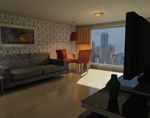 apartment scene obj