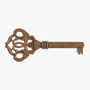 3d old skeleton key model