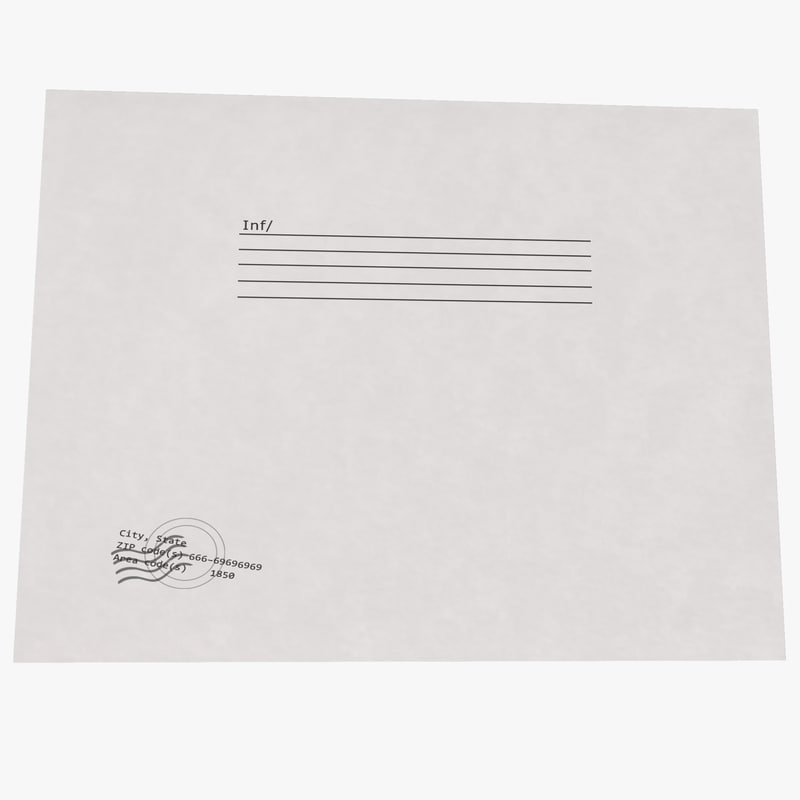 small white envelope 3ds