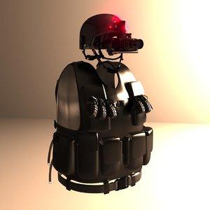 3d obj sci-fi equipment