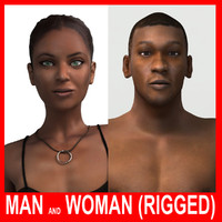 Man and Woman II (Rigged)