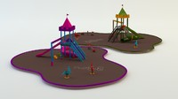 3d cartoon playground model