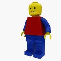 lego man 3d max
