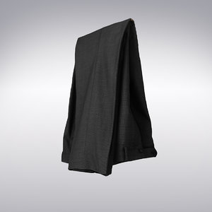 3d model dark gray trousers scanning