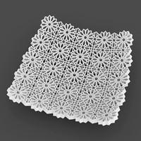 geometric flowers bowl 3d obj