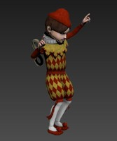 doll character 3d model