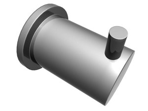 3ds max single robe hook