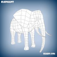 base mesh elephant 3d model