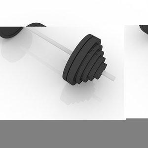 free dwg model barbell v5