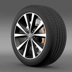volkswagen polo wheel 3d 3ds