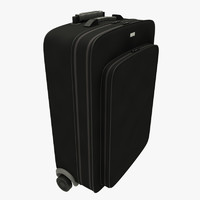travel baggage suitcase black