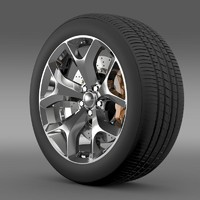 dodge challenger sxt wheel 3d model