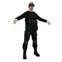 swat soldier 3d model
