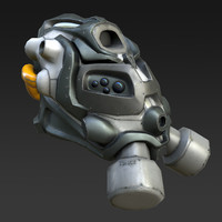 sci-fi gas mask 3d max