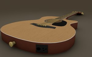 3ds max electric guitar