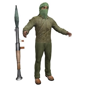 terrorist 4 3d max
