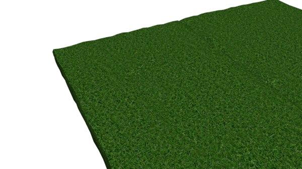 3d simple grass field