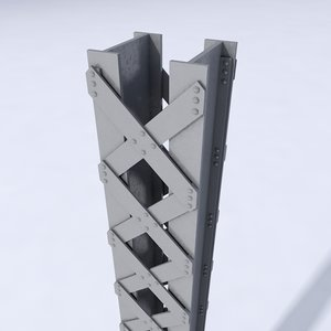 girder bridges construction c4d
