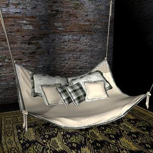 3d model hammock sofa prop