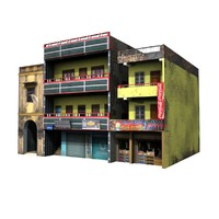 Indian Building04 low poly