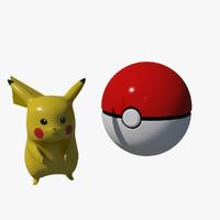 pokemon pikachu obj