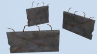 3d model pack concrete walls