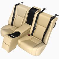 3d model car seat rear