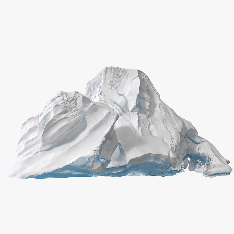 snow mountain 3d model
