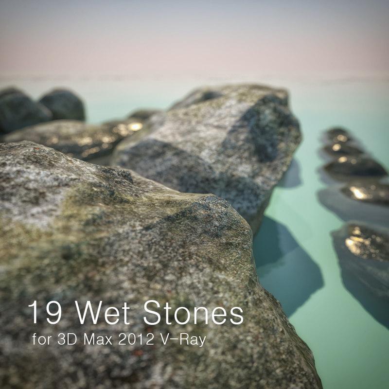 3d wet stones model