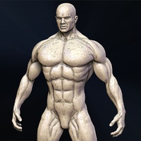 3d male superhero body man