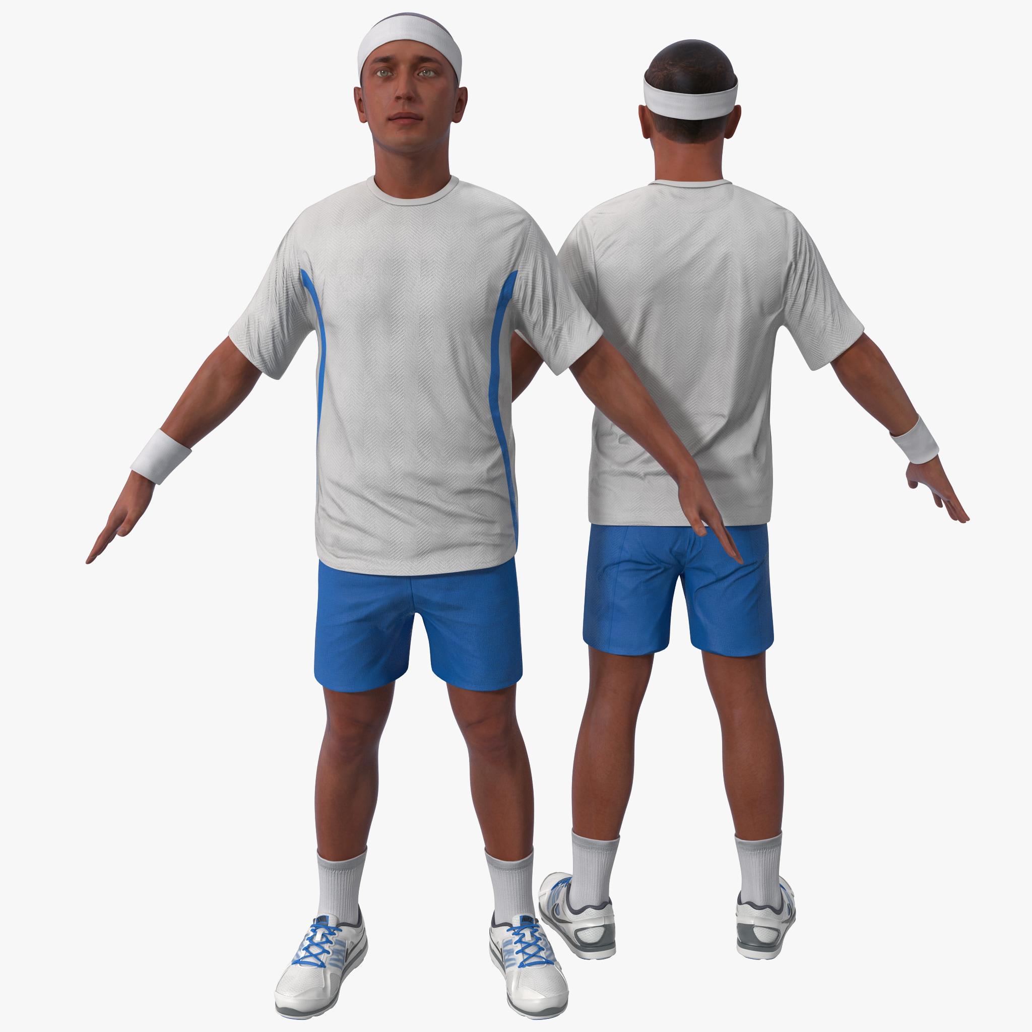 3d model tennis player 3