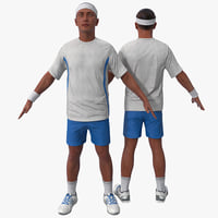 3d model tennis player 3