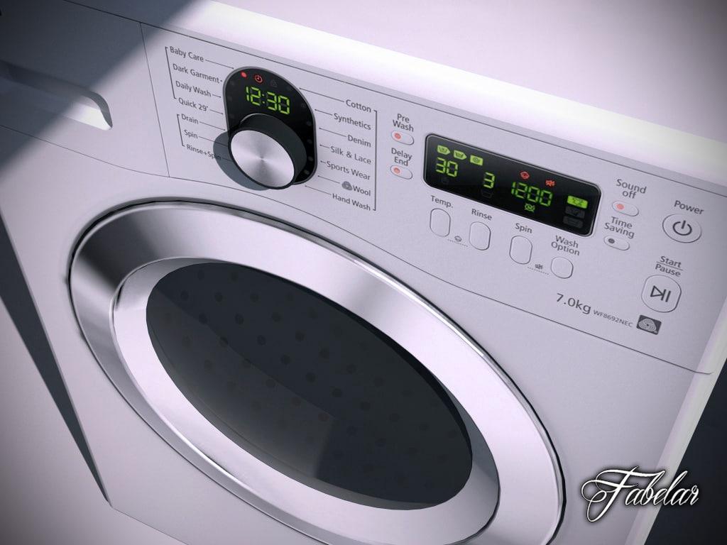 3d samsung washing machine