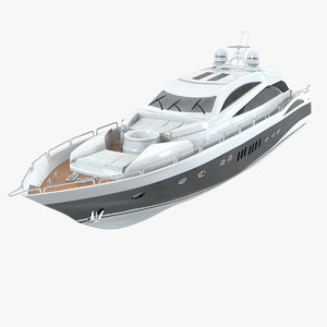 3d sunseeker predator 108 yacht model