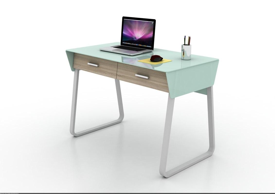 contemporary design computer desk 3d 3ds