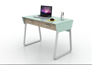 contemporary design computer desk 3d 3ds