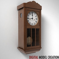 3d model of vintage wall clock