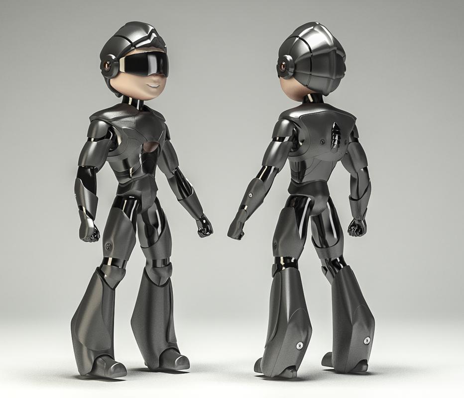 3d robot boy robo