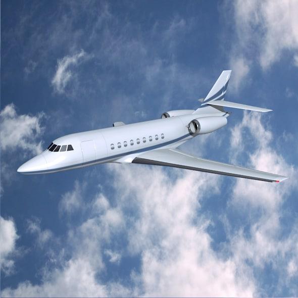 obj dassault falcon 2000dx private jet