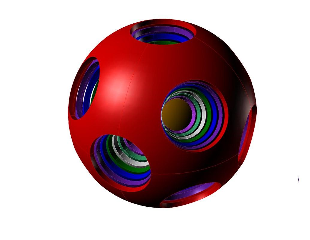 japanese family ball 3d model