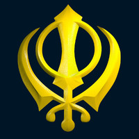 3d model khanda symbol