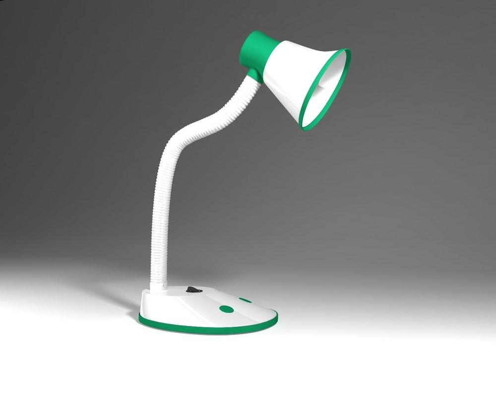 3d study lamp model