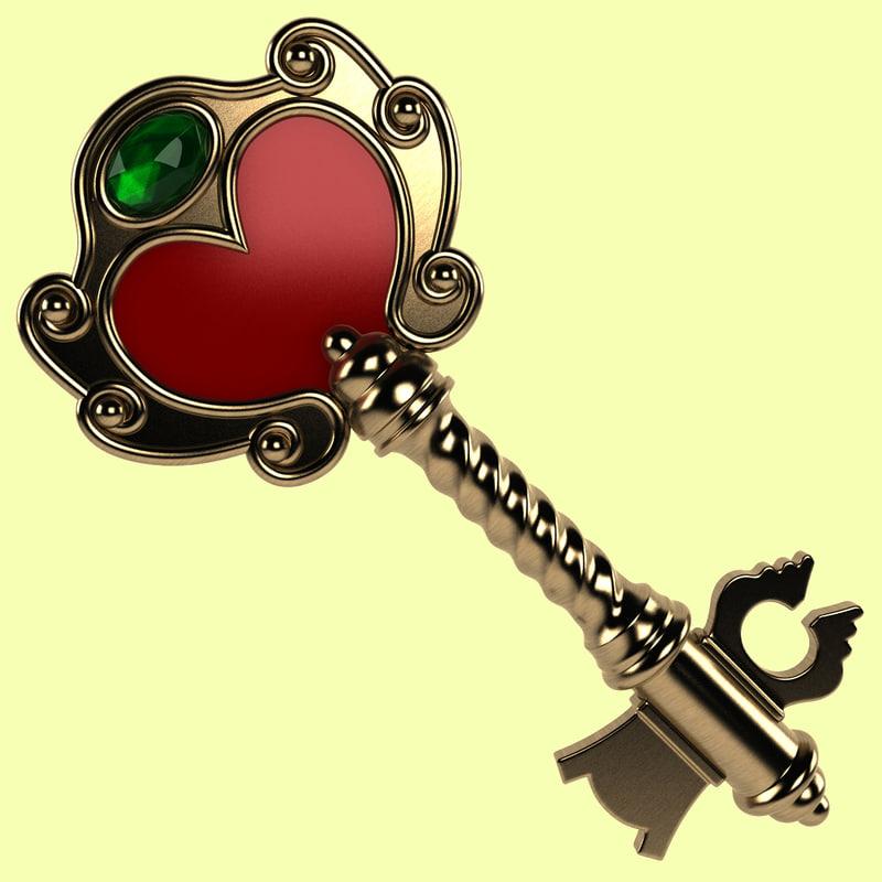 3d magic key model