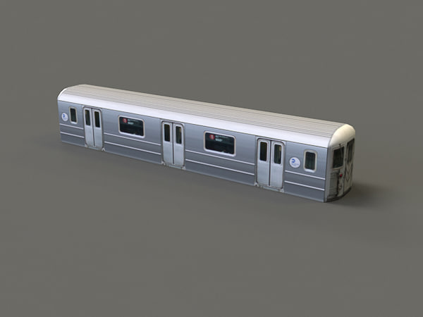 subway car r62 3d model