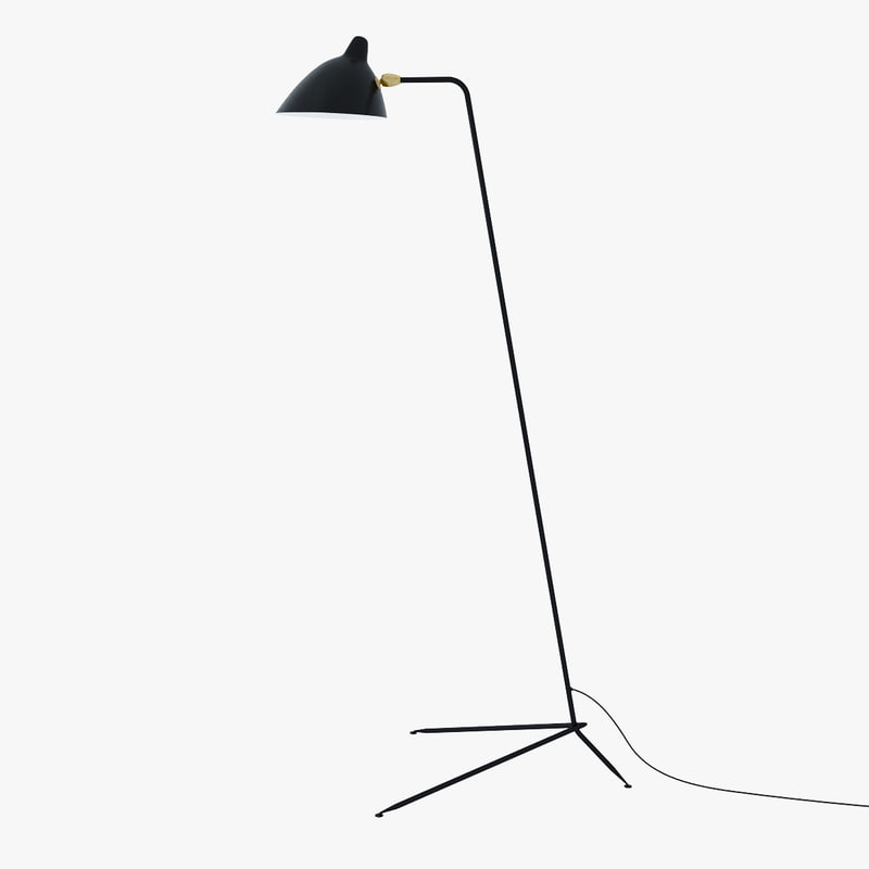 standing lamp serge mouille 3d max