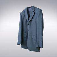 Men's Suit Jacket Blue - 3D Scanned