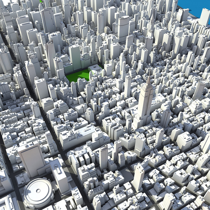 New york manhattan midtown 3d model for New york models