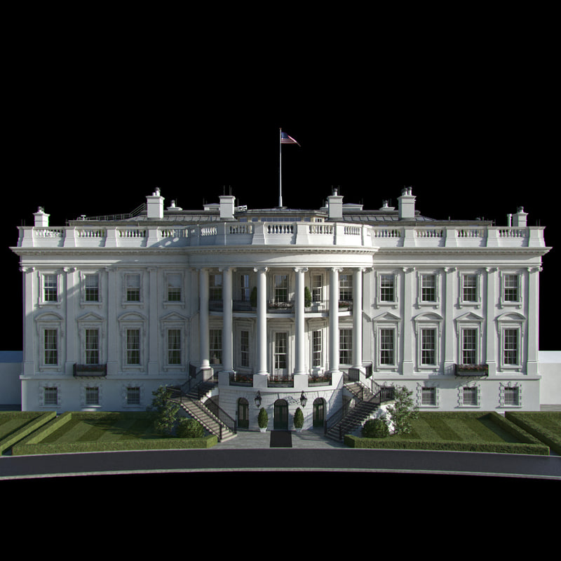 3d model washington white house