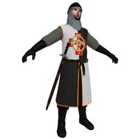 3d model of medieval knight