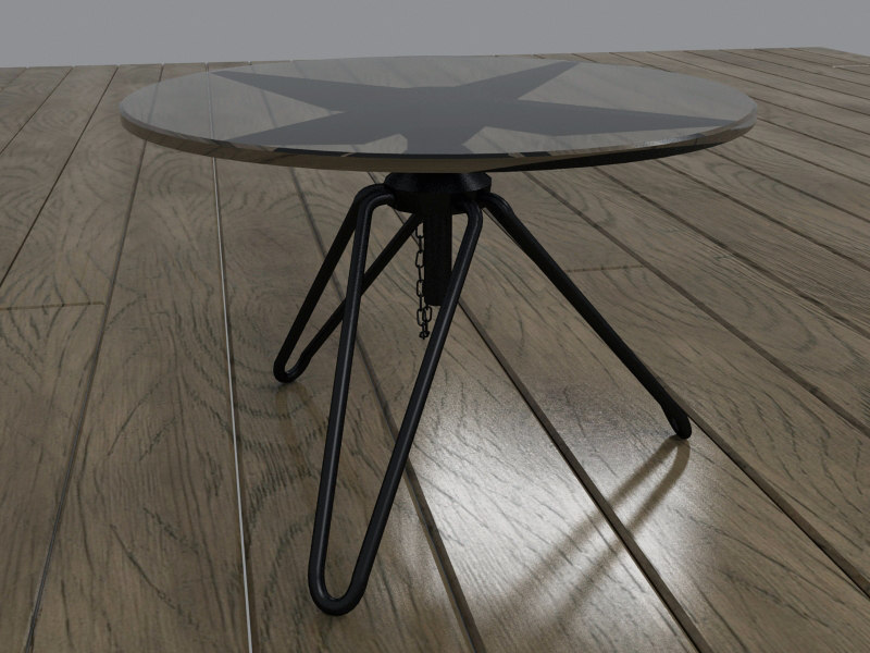 glass metal coffee table max
